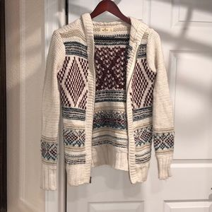 Zip up cardigan festive sweater